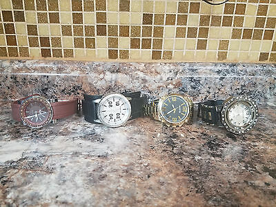 Lot of 4 WATCHES 2 UNLISTED (Kenneth Cole)1 ICE 1 MONTE CARLO QUARTZ AS-IS!