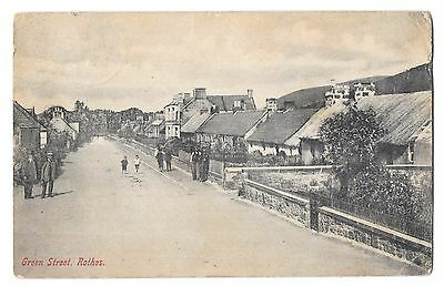 Green Street, Rothes PPC Local PMK, 1909 with Locals & Urchins in Street