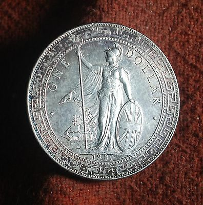 1901 B (Bombay Mint) Great Britain Unc One Dollar Trade Coin