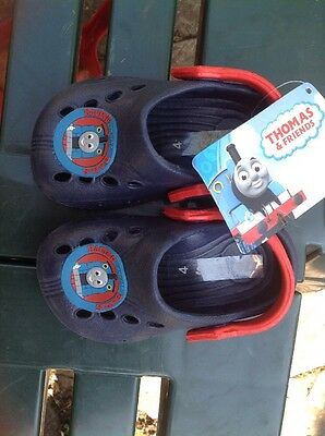 Thomas The Tank Style Crocs Style  NEW SIZE 4