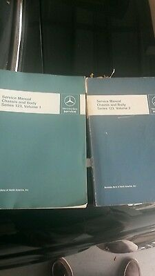 Mercedes service manuals 123 volume 1 and 2