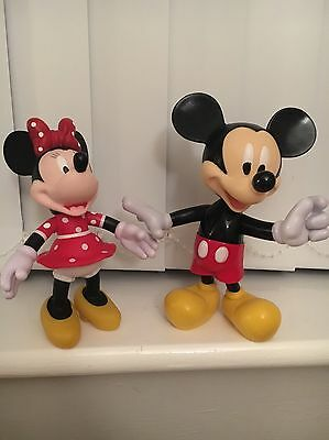 Mickey Mouse And Minnie Mouse - SET OF 2 PLASTIC DISNEY FIGURES