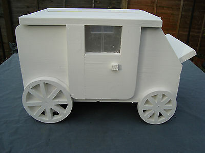 Solid wooden wedding stage coach post box for sale free postage