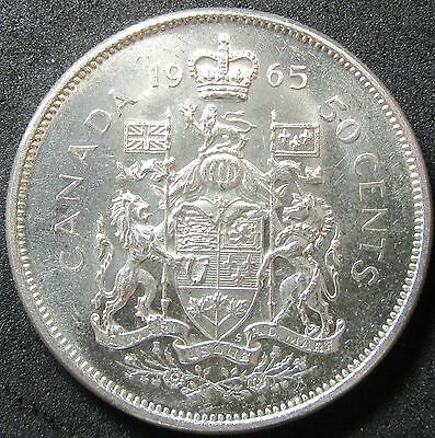 1965 Canada Silver Fifty Cent Coin
