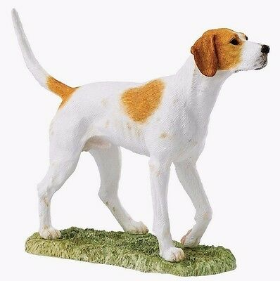 BFA Foxhound Tan & White Studio Dog Ornament (A26016) NEW Xmas Gift Idea