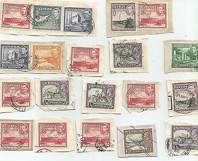 Cyprus King George Vi Selection Of Pieces 1938-51 Postmark Interest 155