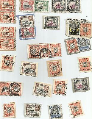King George Vi Selection Of Pieces 1938-54 Postmark Interest 156