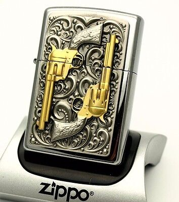 Zippo Lighter - LIMITED EDITION - GOLDEN REVOLVERS - PISTOLS ZIPPOS LTD SPECIAL