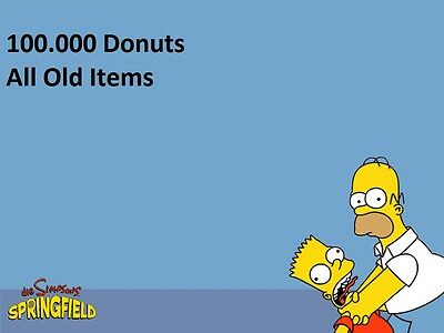 """Die Simpsons:Springfield """"Tapped Out"""" Spiele App - 100.000 Donuts & Old Items"""