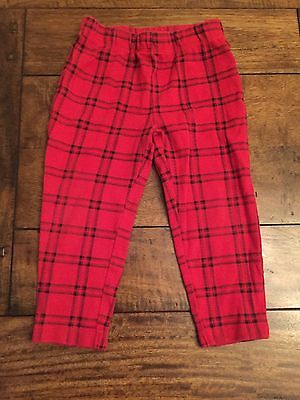 Baby Girl Checked Legging Trousers Red 12-18 Months