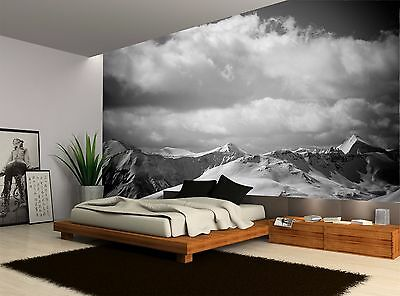Black And White Mountain Landscape Wall Mural Photo Wallpaper GIANT WALL DECOR