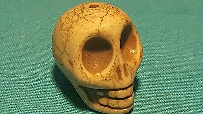 Rare Ancient Bactrian  stone amulate skull head