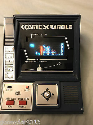 Cgl Cosmic Scramble - Vintage 1982 Table Top Game - Working