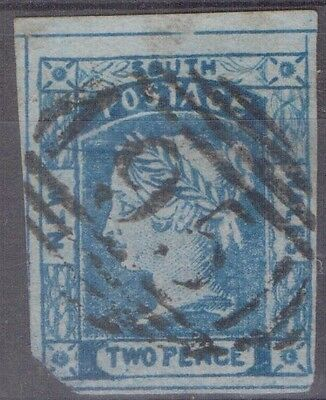 NEW SOUTH WALES 2d Laurette with Barred Oval '95' Cancel