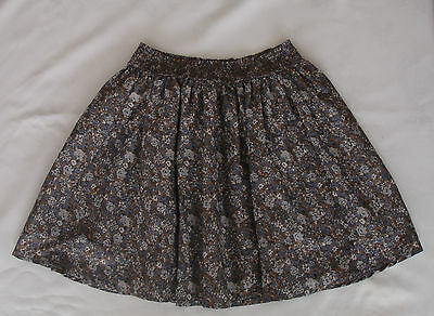 Next Grey, Blue & Beige Floral Skirt Size 9 Years