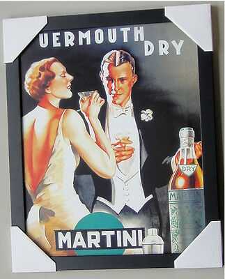 MARTINI  (UERMOUTH DRY) MINI framed PRINT Ready to Hang LICENSED