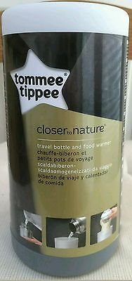 NEW Tommee Tippee Closer to Nature Travel Bottle Warmer/Flask