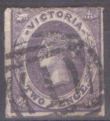 VICTORIA 1858  2d Violet Very Good Used SG 70