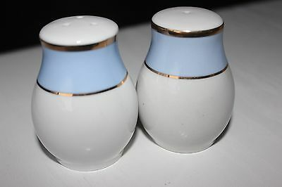 Royal Doulton Bruce Oldfield Baby Blue Salt and Pepper Pots