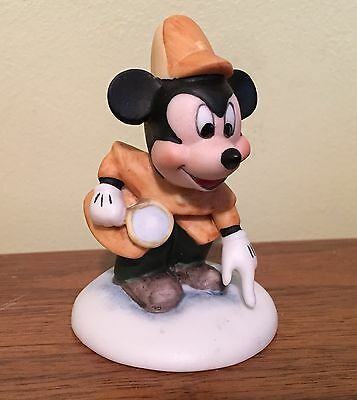 1987 Walt Disney Company Collection Mickey Mouse Detective Bisque Figurine