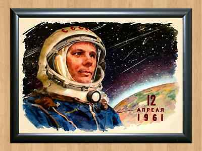 Yuri Gagarin First Man in Space Memorabilia Signed Autographed A4 Print Photo 3