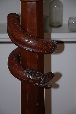 Stair Newel Post, Banister or Column Dragon Snake