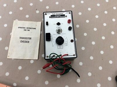 Vintage Transistor Checker Tester With Paperwork Instructions