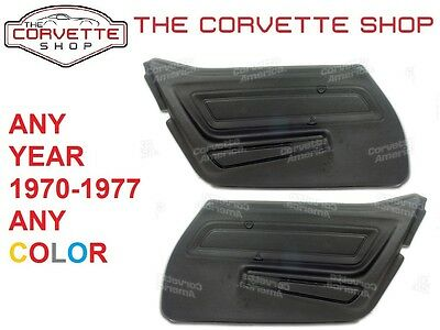 C3 Corvette Basic Door Panel Pair 1970-1977  ANY COLOR