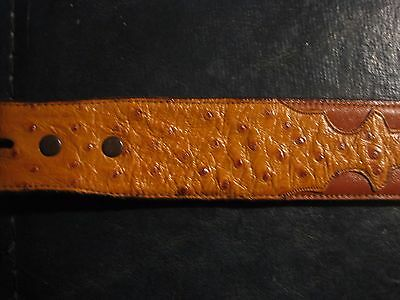 Vintage Lucchese Genuine Ostrich/leather Belt 32 Used # B1315