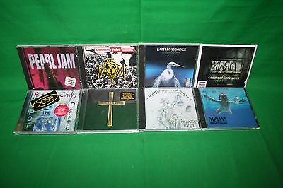 Lot Of 8 Rock Cd's Queens Ryche/Pearl Jam/Chili Peppers/The Ozzman Cometh