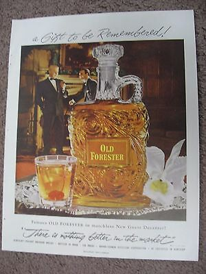1952 Old Forester Kentucky Bourbon Whisky Large Full Page Color Ad Free Shipping