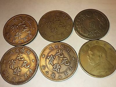 China  Large Silver Coin 6 pcs Forgery