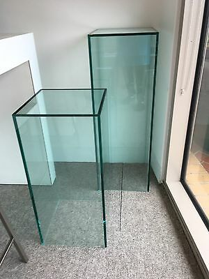 Display Cubes Set/Podium Glass Clear  - Displays, Product promotion