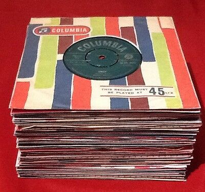 Lot A65 Forty 1960 45rpm Vinyl Records, All In Original/replica Company Sleeves,