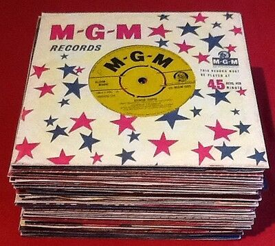Lot A62,Forty 1960 45rpm Vinyl Records, All In Original/replica Company Sleeves,
