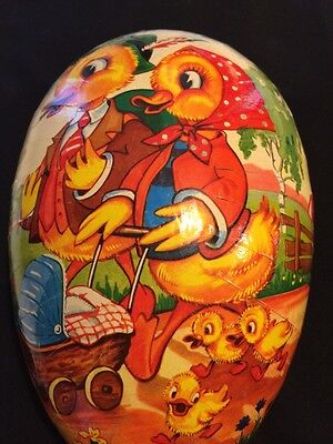 "Paper Mache 9"" Egg Container made in Western Germany"