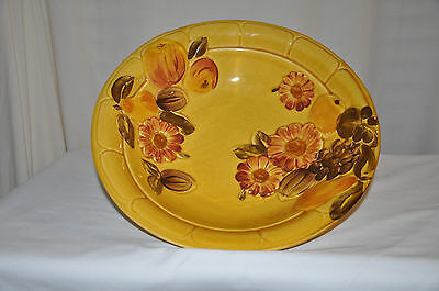 Vintage 1966 Los Angeles Pottery Goldenrod Large Serving Bowl #32 MADE IN USA