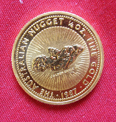 Gold Coin Minted By The Perth Mint--1/4 Oz 9999 Pure