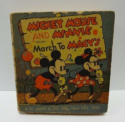 1935 Mickey Mouse & Minnie March To Macys Big Little Type Book Giveraway Disney