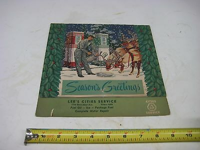 Vintage Gas & Oil Service Station 1951 Cities Service Calendar