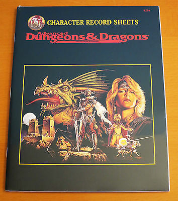 NEW AD&D Character Record Sheets - Sealed