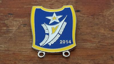 King's Lynn Young Stars---2014----Speedway Badge--Silver Metal