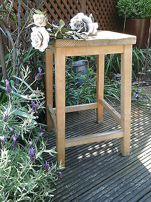 Vintage Lab Stool - Original Industrial Elm Solid Wood ~ Quirky Retro Cafe Bar