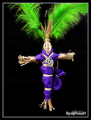 SPELL-INFUSED Authentic 17 Inch PROTECTION WITCH DOLL Voodoo Amulet TALISMAN