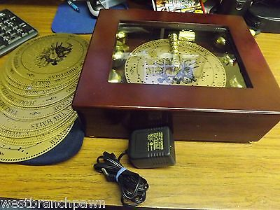 Mr. Christmas Music Bell Symphonium Music Box with 20 record disc's
