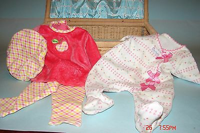Bitty Baby Wicker Case And 2 Outfits