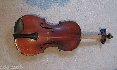 Antique Joseph A. Titus Violin with 2 Bows and Case/Rare Worcester, Mass.