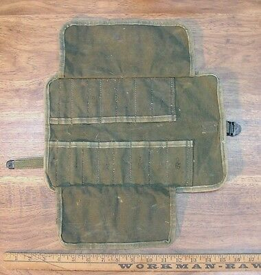 Vintage Green Canvas Roll-Up,5120-00-542-5799,For Wrench,Socket Set,Military?