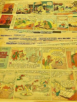 Disney Uncle Remus Tales lot of 37 newspaper comic strips Song of the South