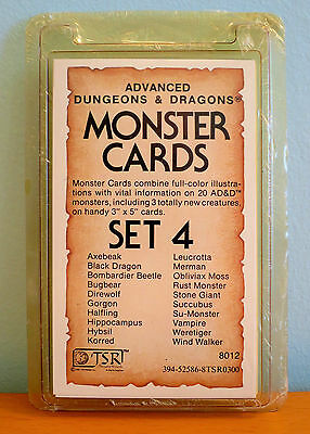 NEW AD&D 1st Edition Monster Cards Set 4
